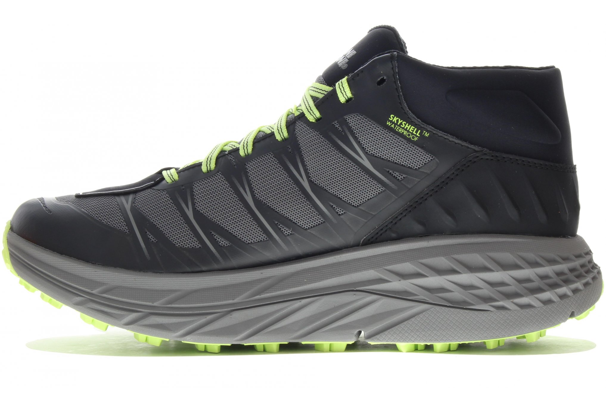 HOKA ONE ONE M SPEEDGOAT MID WP BLACK STEEL GREY